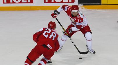 Дания обыграла Белоруссию в матче ЧМ по хоккею