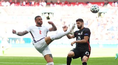 Гол Стерлинга помог Англии обыграть Хорватию на Евро-2020