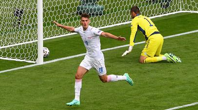 Попадание с 45 метров и удаление Крыховяка: Чехия и Словакия выиграли стартовые матчи на Евро-2020