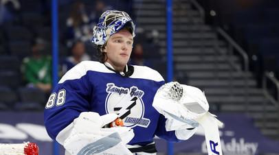 Василевский стал третьим вратарём в истории НХЛ, одержавшим 20 побед как минимум в 24 матчах