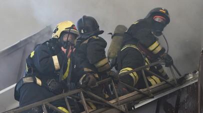 В Москве произошёл крупный пожар в шиномонтаже