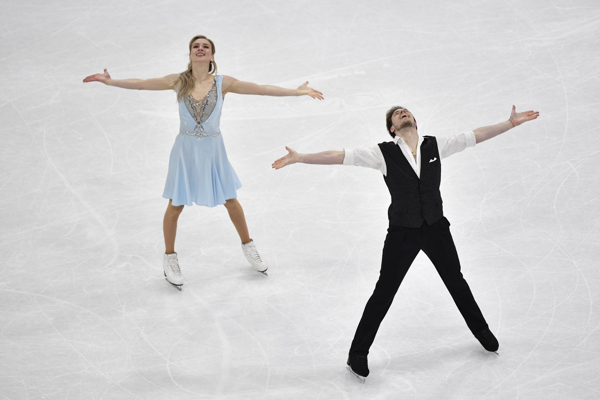 Синицина - Кацалапов выиграли ритм-танец на ЧМ по фигурному катанию