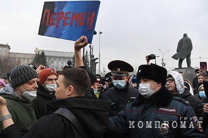 В МВД сообщили о шести тысячах участников несогласованной акции в Москве