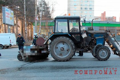 В России мужчина погиб под щеткой уборочной машины