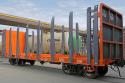 УКБВ модернизировало вагон-платформу для перевозки лесоматериалов