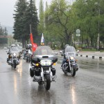 «Ночные волки» организовали мотопробег на КМВ в честь Дня Победы