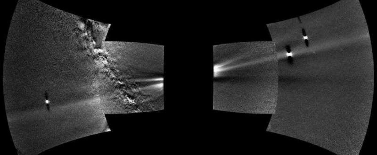 NASA получило уникальный снимок космической пыли на орбите Венеры