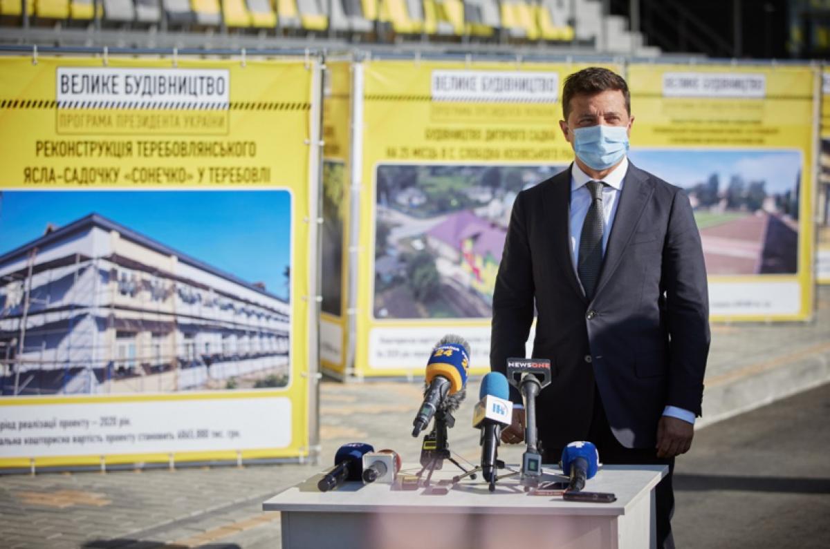 Зеленский рассказал, сколько объектов достроят по программе 'Большая стройка'