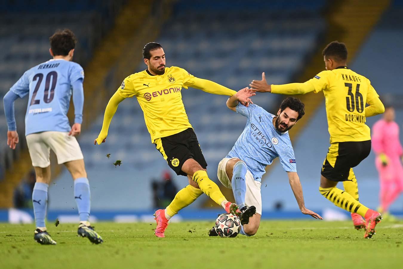 «Манчестер Сити» одолел дортмундскую «Боруссию» в первом матче 1/4 финала Лиги чемпионов