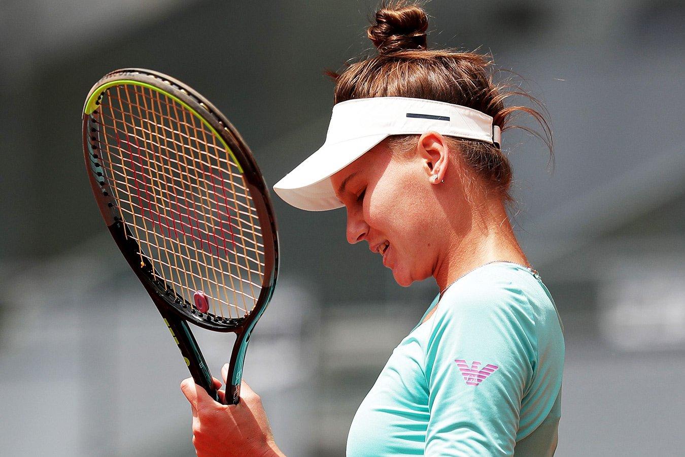 Вероника Кудерметова проиграла во втором круге «Ролан Гаррос», ведя 5:1 в третьем сете