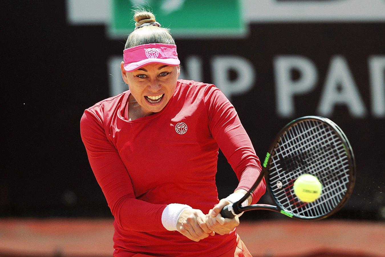 Вера Звонарёва проиграла в финале квалификации «Ролан Гаррос», ведя по ходу матча 6:2, 5:1