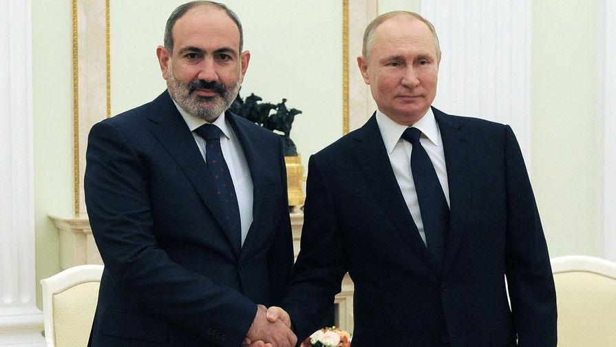 Путин и Пашинян обсудили ситуацию на армяно-азербайджанской границе