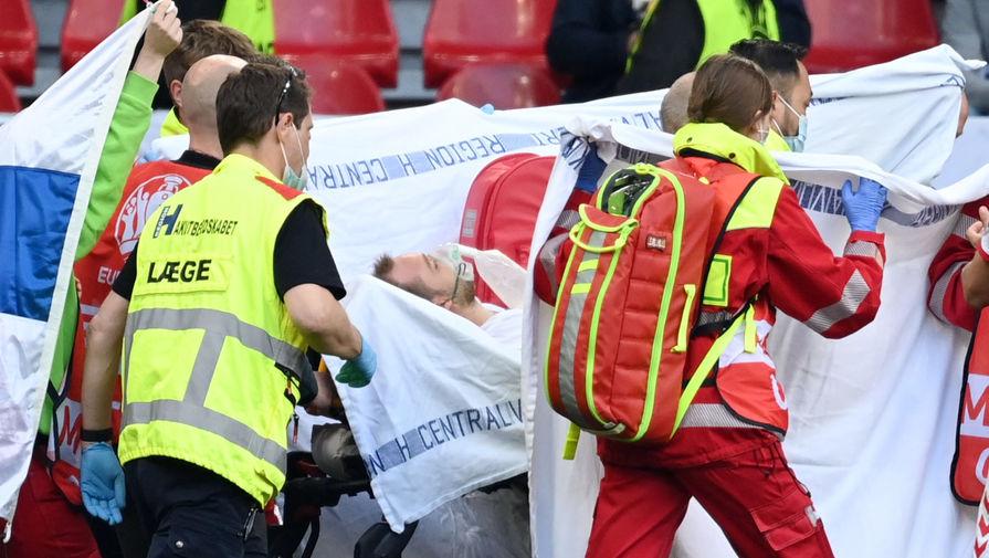 Игрок сборной Дании Эриксен находится в стабильном состоянии