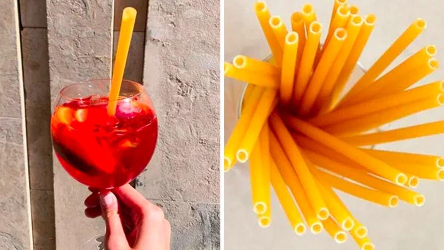 Министр предложил заменить пластиковые трубочки на макароны