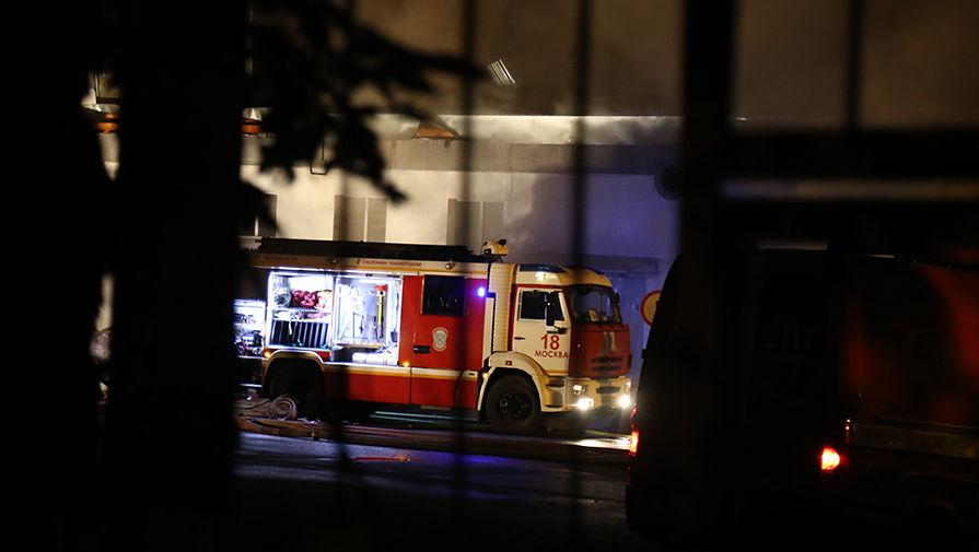 В Москве горит бизнес-центр 'Савеловский Сити'
