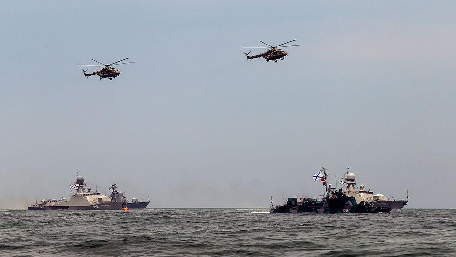 Отряд кораблей Каспийской флотилии закончил переход в Черное море