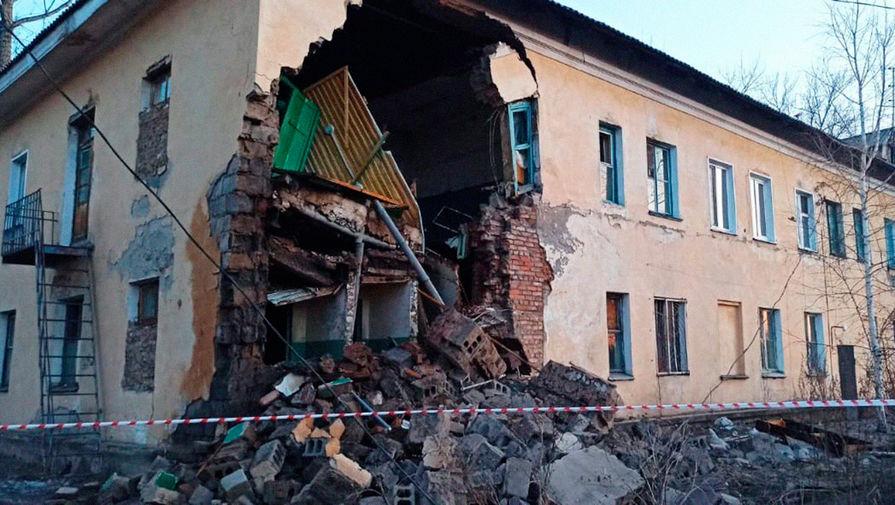 Жителей обрушившегося дома в Красноярском крае не будут расселять
