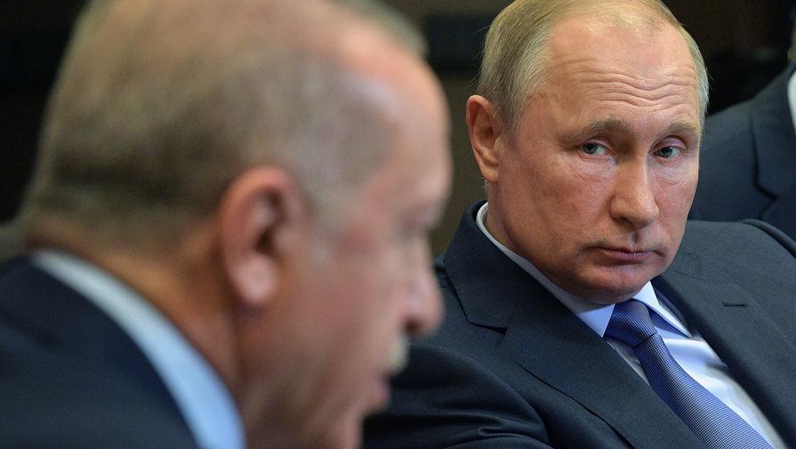 Эрдоган и Путин обсудили вопрос поставки 'Спутник V' в Турцию и ситуацию в Израиле