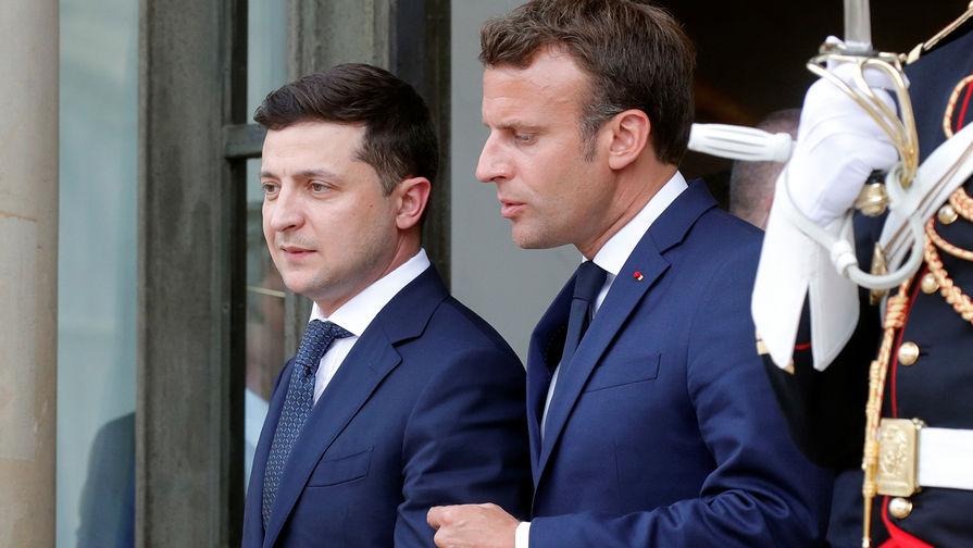 Зеленский встретится с Макроном во Франции
