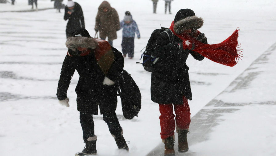 В Москве в воскресенье ожидается до -14°С и метель