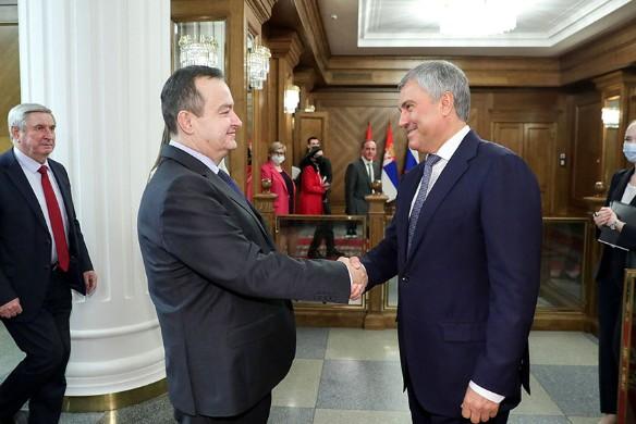 Володин пригласил главу сербского парламента выступить на заседании ГД