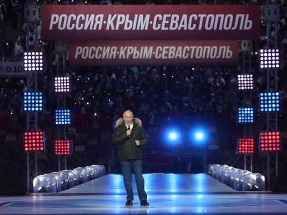 Путин и Собянин посетили концерт «Дни Крыма в Москве» в «Лужниках»