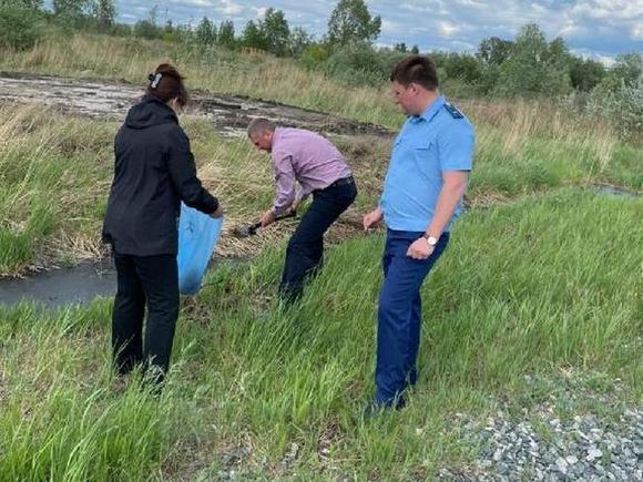В Тобольске обнаружили разлив нефтепродуктов рядом с рекой Иртыш