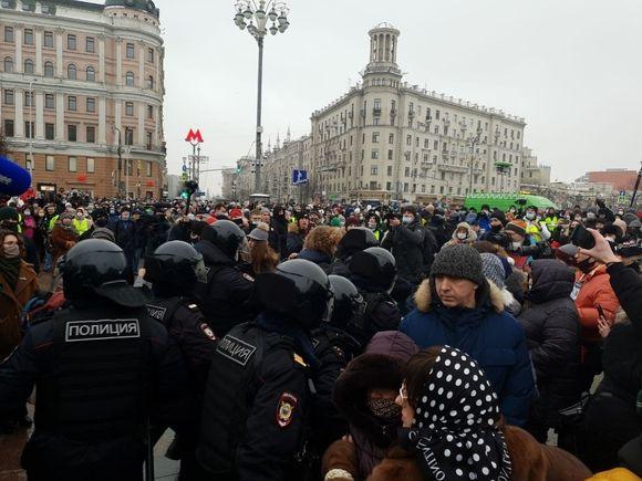 Впервые участник акции протеста 23 января в Москве получил реальный срок