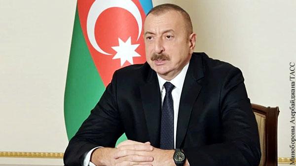 Алиев пообещал азербайджанцам вернуть Иреван