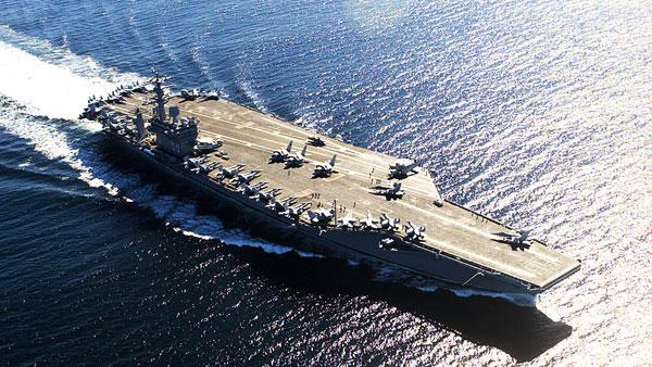 Пентагон решил защитить войска США в Афганистане авианосцем