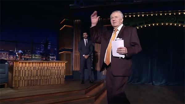 Блогеров впечатлил пришедший «закрывать» «Вечерний Ургант» Жириновский