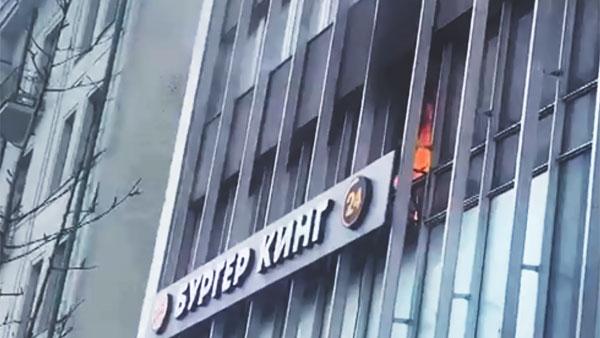 В московском «Бургер Кинге» начался пожар, эвакуированы десятки людей