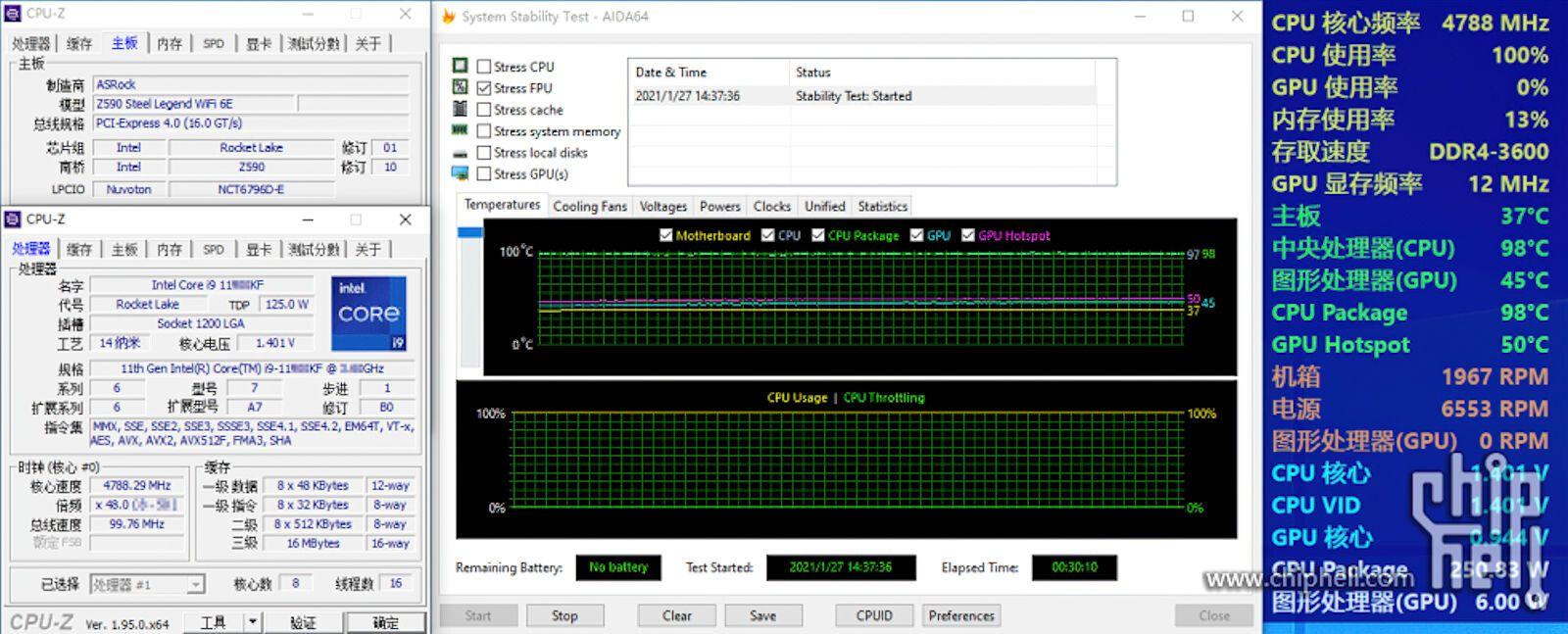 Процессор Intel Core i9-11900KF оказался очень горячим