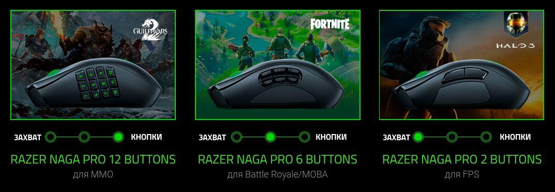 Обзор модульной беспроводной игровой мышки Razer Naga Pro