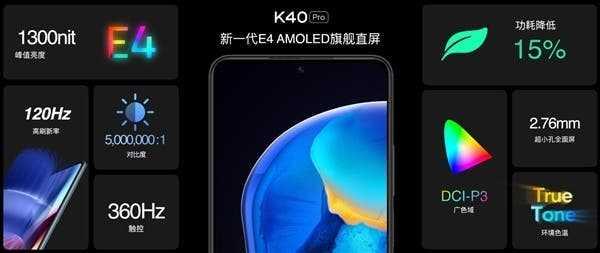 Смартфон Redmi K40 получил лучший плоский экран на рынке