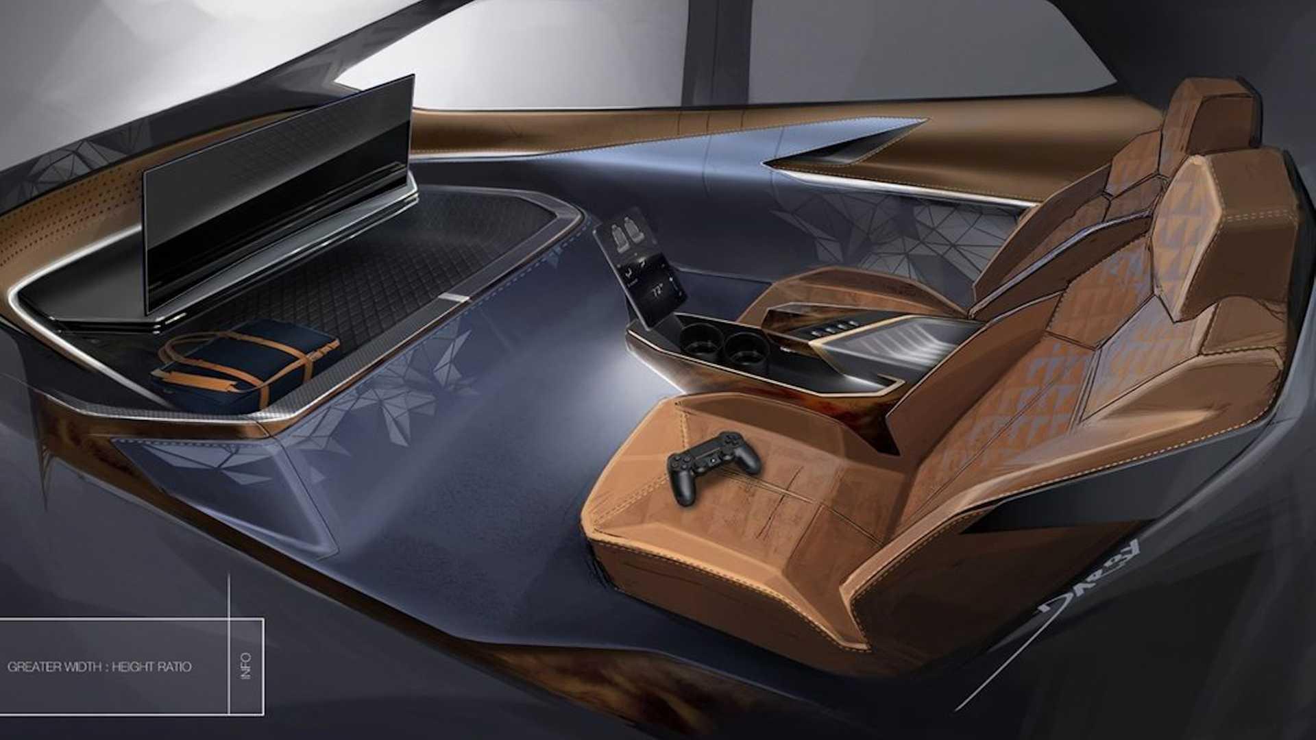 Посмотрите на интерьер автомобиля со встроенной игровой приставкой