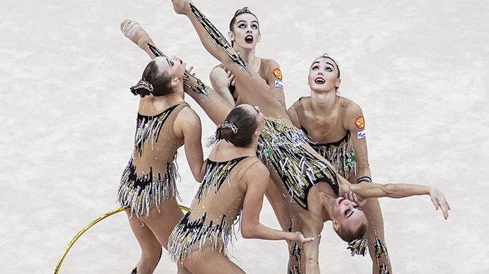 Российские гимнастки завоевали золото ЧЕ в групповом многоборье