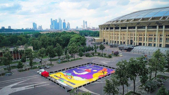 ФИФА и оргкомитет ЧМ по пляжному футболу в России представили официальный плакат турнира