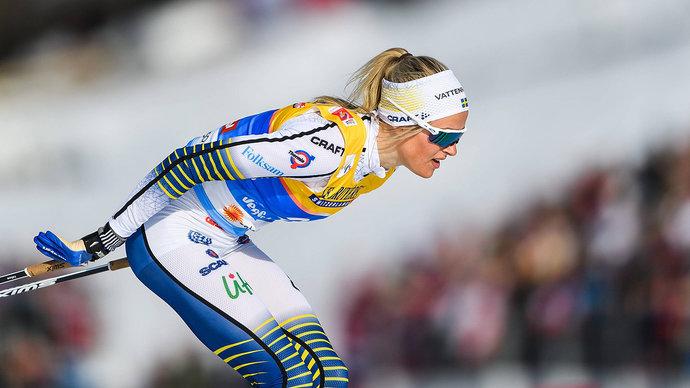 Карлссон получила травму руки во время марафона на ЧМ. После финиша лыжницу увезли в больницу
