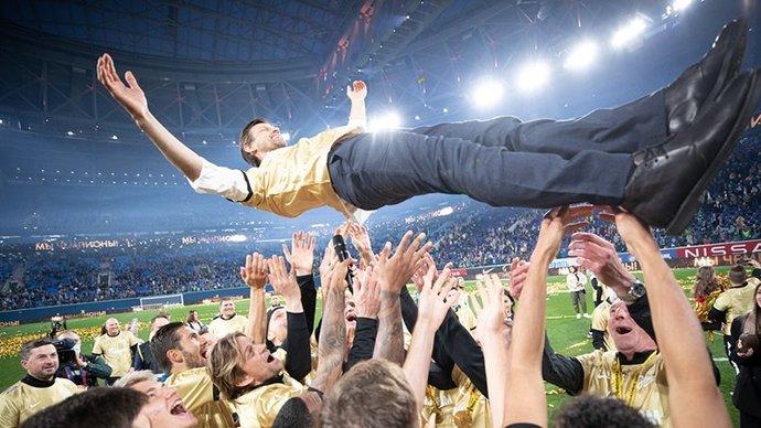 Сергей Семак: «Поздравляю город, болельщиков и команду с абсолютно заслуженным чемпионством»