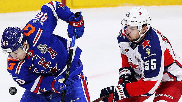 СКА выиграл первый матч серии с ЦСКА в полуфинале Кубка Гагарина
