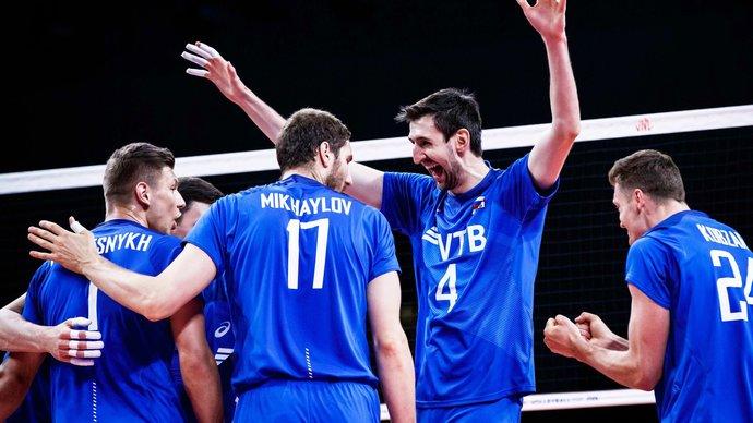 Российские волейболисты обыграли Италию в Лиге наций