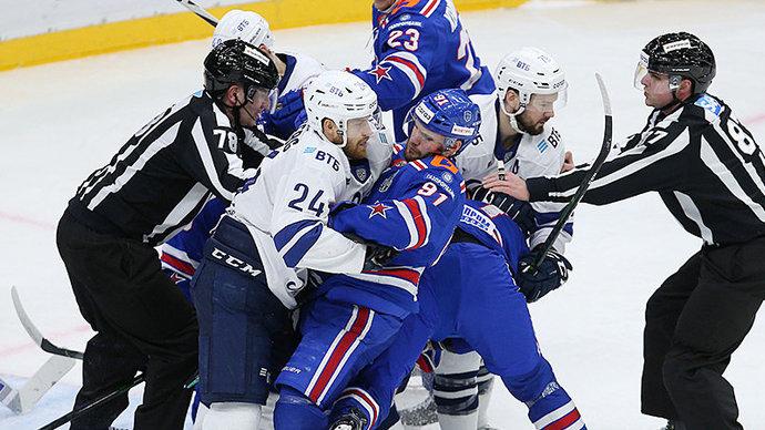 «Динамо» уверенно победило СКА в первом матче четвертьфинала Кубка Гагарина