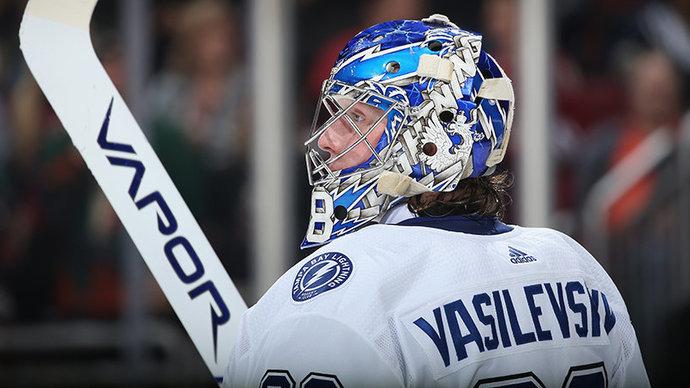 Василевский признан второй звездой дня в НХЛ