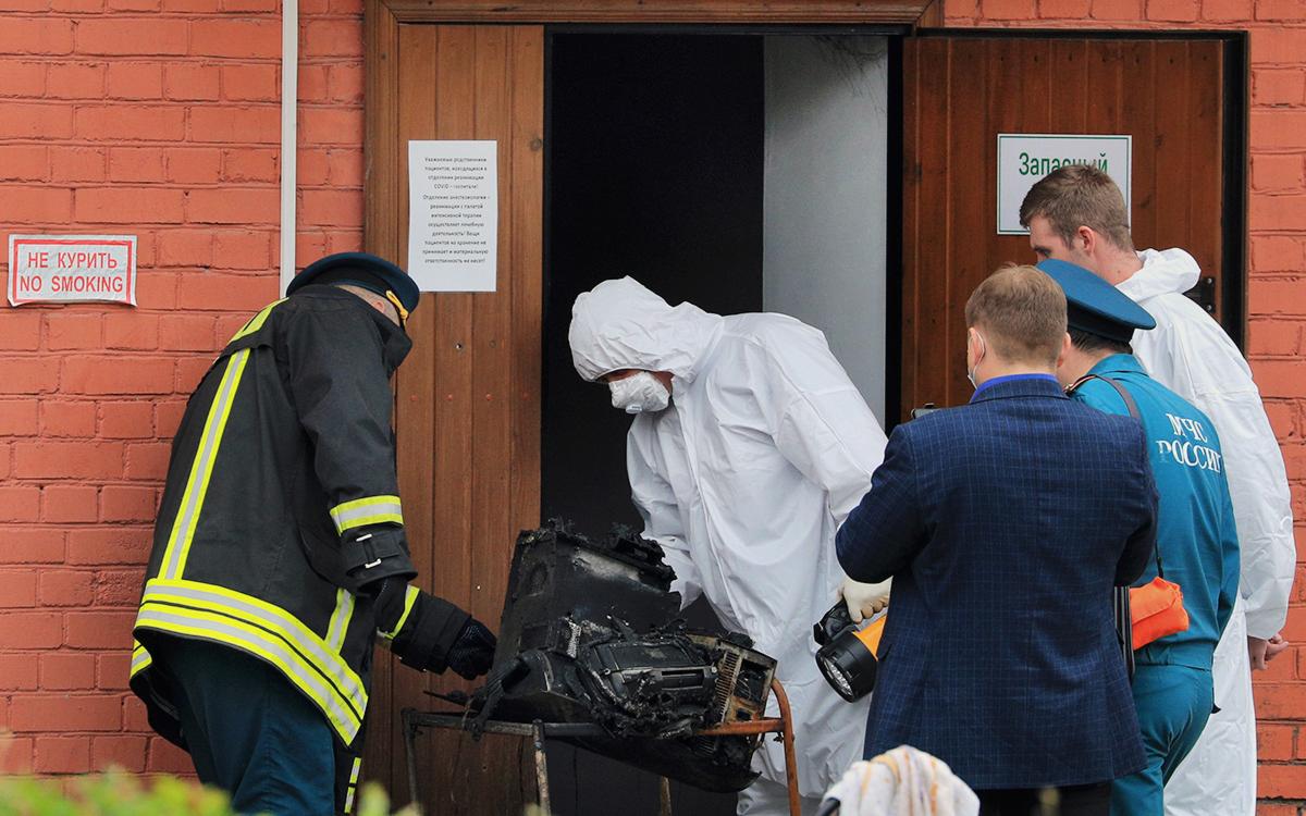 Власти сообщили, что загоревшийся в рязанской больнице ИВЛ не из России