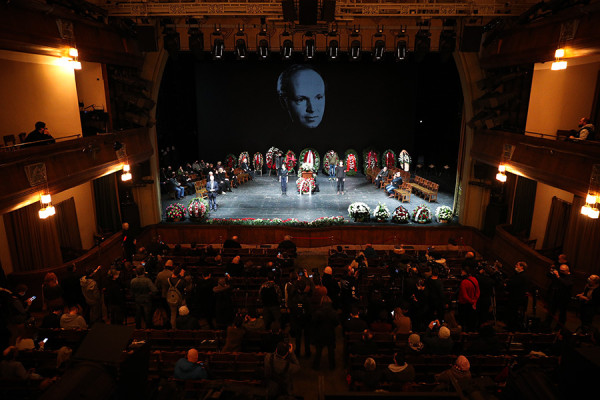 Прощание с Андреем Мягковым в Москве. Фоторепортаж