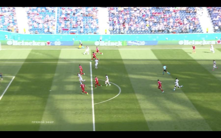 Гол Финляндии в ворота России отменил ВАР. Похьянпало забил головой в падении после перехвата, но залез в офсайд