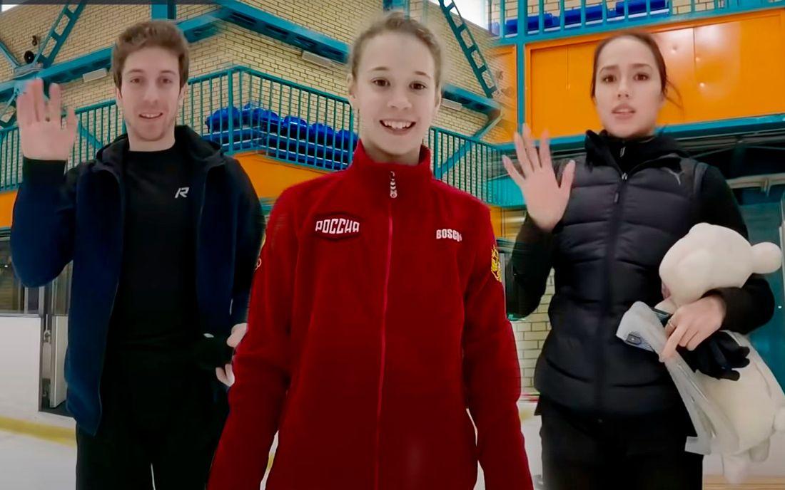 Видео тренировки группы Тутберидзе изнутри. Вице-чемпионка мира Турсынбаева сняла Загитову, Глейхенгауза и других
