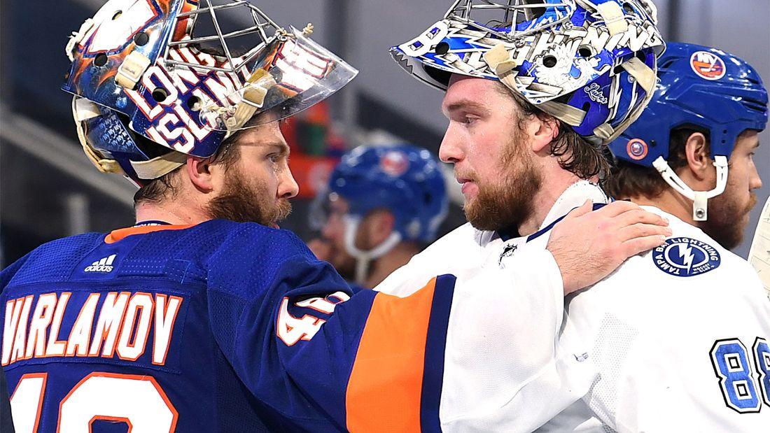 «Мы видим его величие». Два русских вратаря могут взять приз лучшему голкиперу НХЛ, но Василевский — лидер отрывом