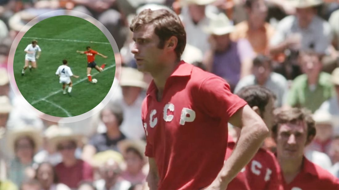 Легендарный гол советского футболиста Бышовца на ЧМ-1970. Ушел от двух бельгийцев и зарядил в девятку: видео